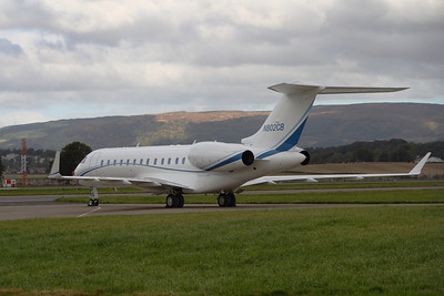 Bombardier Global Express BD-700-1A10 (N802CB) owned by PFM Holdings LLC parked at Glasgow Airport