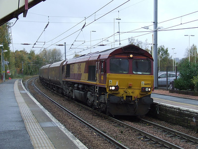 66053 passing through Johnstone on a service to Longannet PS