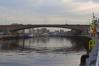 Kingston Bridge, looking upriver towards the City Centre